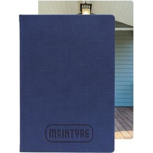 "Bohemian™ Textured Journal - Large w/Full-Color Tip-in (7""x10"")"