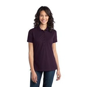 Port Authority® Ladies Stretch Pique Polo Shirt