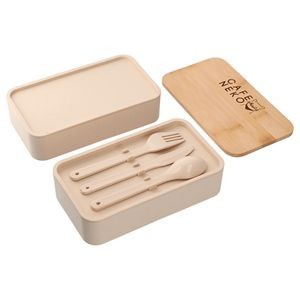 Stackable Bamboo Fiber Bento Box