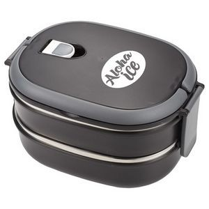 Two Tier Insulated Oval Lunch Box Food Container