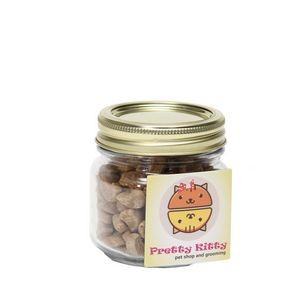 Cat Treats in Half Pint Jar w/ Square Magnet