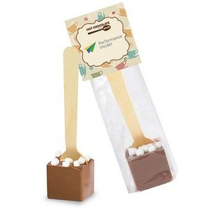 Hot Chocolate on a Spoon in Header Bag - Milk Chocolate & Marshmallows