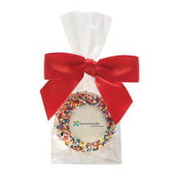 Favor Bag w/ Chocolate Covered Oreo® Pop w/ Rainbow Nonpareil Sprinkles