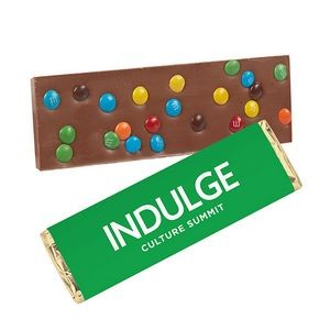 Foil Wrapped Belgian Chocolate Bar w/ M&M® Topping