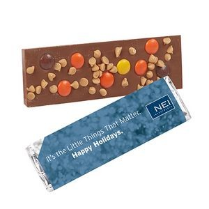 Foil Wrapped Belgian Chocolate Bar w/ Reese's® Pieces & Peanut Butter Chips
