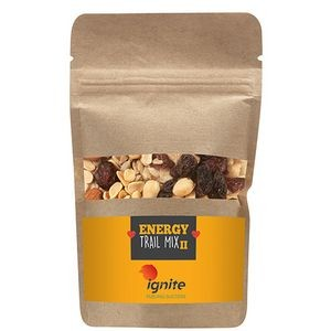 Resealable Kraft Pouch w/ Energy Trail Mix II