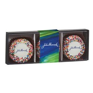 Belgian Chocolate Custom Oreo® Gift Box - Rainbow Nonpareil Sprinkles
