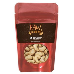 Resealable Pouch w/ Raw Cashews