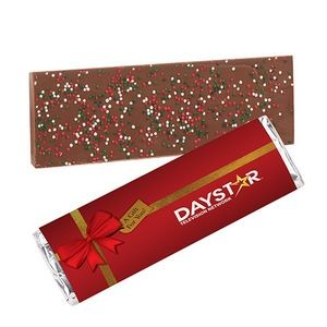Foil Wrapped Belgian Chocolate Bar w/ Holiday Nonpareil Sprinkles