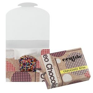 Chocolate Covered Oreo® Box (Corporate Color Nonpareil Sprinkles)