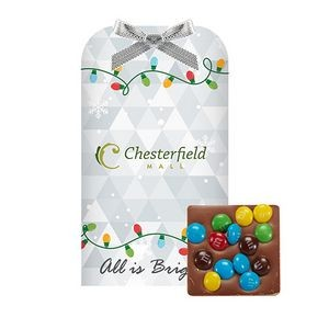 Belgian Chocolate Bar Stocking Stuffer w/ Mini M&M's®