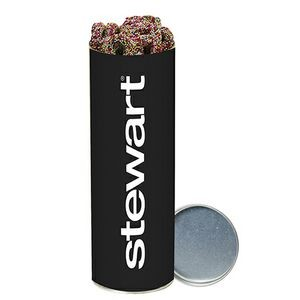 Large Snack Tube - Mini Chocolate Covered Sprinkled Pretzels