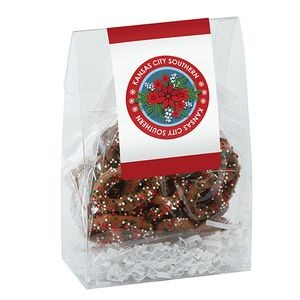 Classic Treat Tote w/ Chocolate Holiday Sprinkled Pretzels
