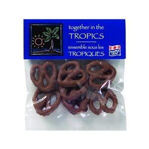 Chocolate Pretzels in Header Bag (2 Oz.)