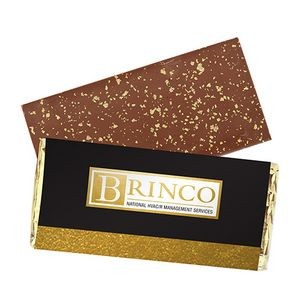 Foil Wrapped Belgian Chocolate Bar w/ 23K Gold Flake Topping