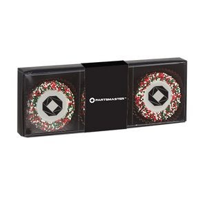 Belgian Chocolate Custom Oreo® Gift Box - Holiday Nonpareil Sprinkles