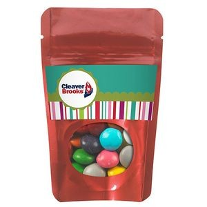 Resealable Window Pouch w/ Chocolate Buttons