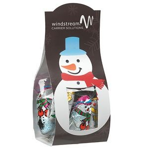 Candy Desk Drop w/ Chocolate Snowman (Small)