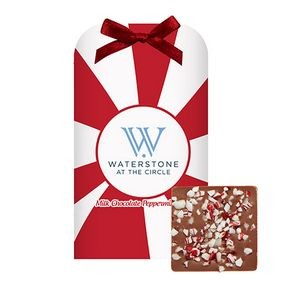 Belgian Chocolate Bar Stocking Stuffer w/ Peppermint