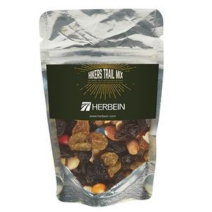 Resealable Clear Pouch w/ Hiker's Trail Mix