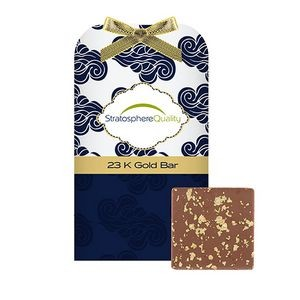 Belgian Chocolate Bar Stocking Stuffer w/ 23K Gold Flakes
