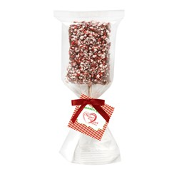 Chocolate Covered Krispy Pop w/ Peppermint Bits