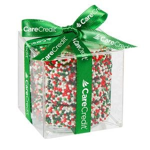 Chocolate Covered Oreo® Present w/ Custom Oreo® Cookies and Holiday Nonpareils