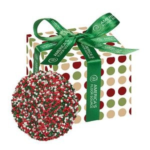 Chocolate Covered Oreo® Favor Box - Holiday Nonpareil Sprinkles