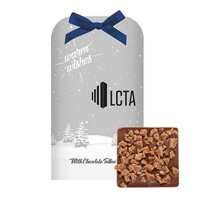 Belgian Chocolate Bar Stocking Stuffer w/ Toffee