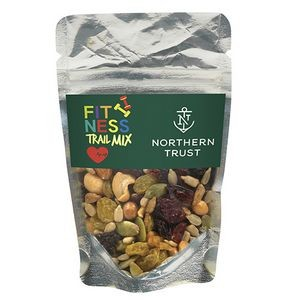 Resealable Clear Pouch w/ Fitness Trail Mix