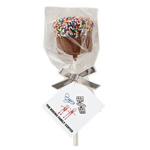 Chocolate Covered Marshmallow Pop - Rainbow Nonpareil Sprinkles