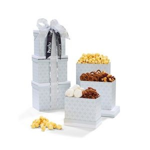 Sophisticated Gourmet Treats Tower Grey