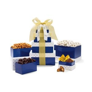 Classic Gourmet Treats Tower Navy-White-Gold