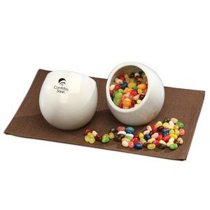 Modern White Candy Dish with Jelly Belly® Jelly Beans