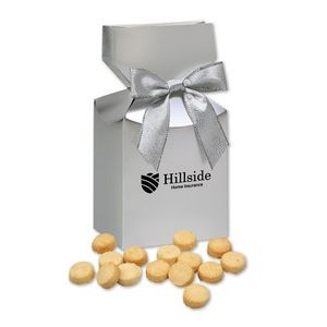 Gourmet Bite-Sized Lemon Meringue Cookies in Silver Gift Box