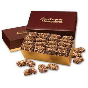 English Butter Toffee in Burgundy & Gold Gift Box