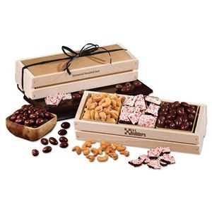 Sweet & Crunchy Assortment in Wooden Crate