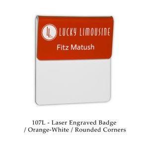 Pocket Fold Over Laser Engraved Name Badge