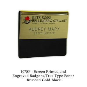 Screen Printed And Engraved Pocket Fold Name Badges