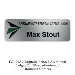 Digital Full Color Aluminum Name Badge