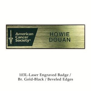 "Laser Engraved Named Badge (1""x3"")"